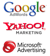 Pay Per Click advertising platforms google,bing,yahoo